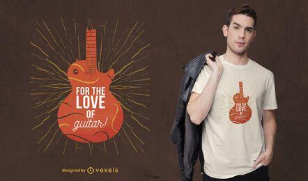 Design de camiseta para guitarra elétrica