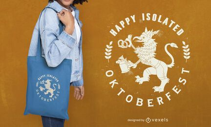 Oktoberfest flat griffin tote bag design