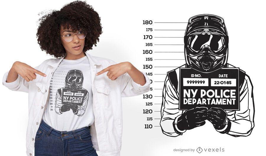 Mugshot motorcycle driver t-shirt design