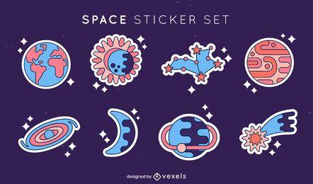 Conjunto de elementos de etiqueta espacial.