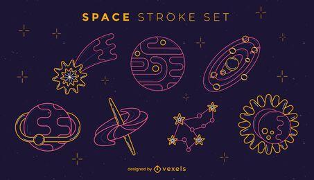 Stroke Nachtfarben-Themen-Raumset