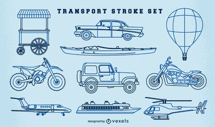 Set of transport vehicles stroke