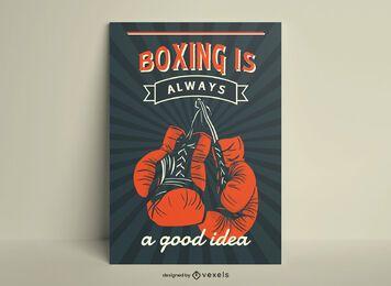 El boxeo es siempre una buena idea póster