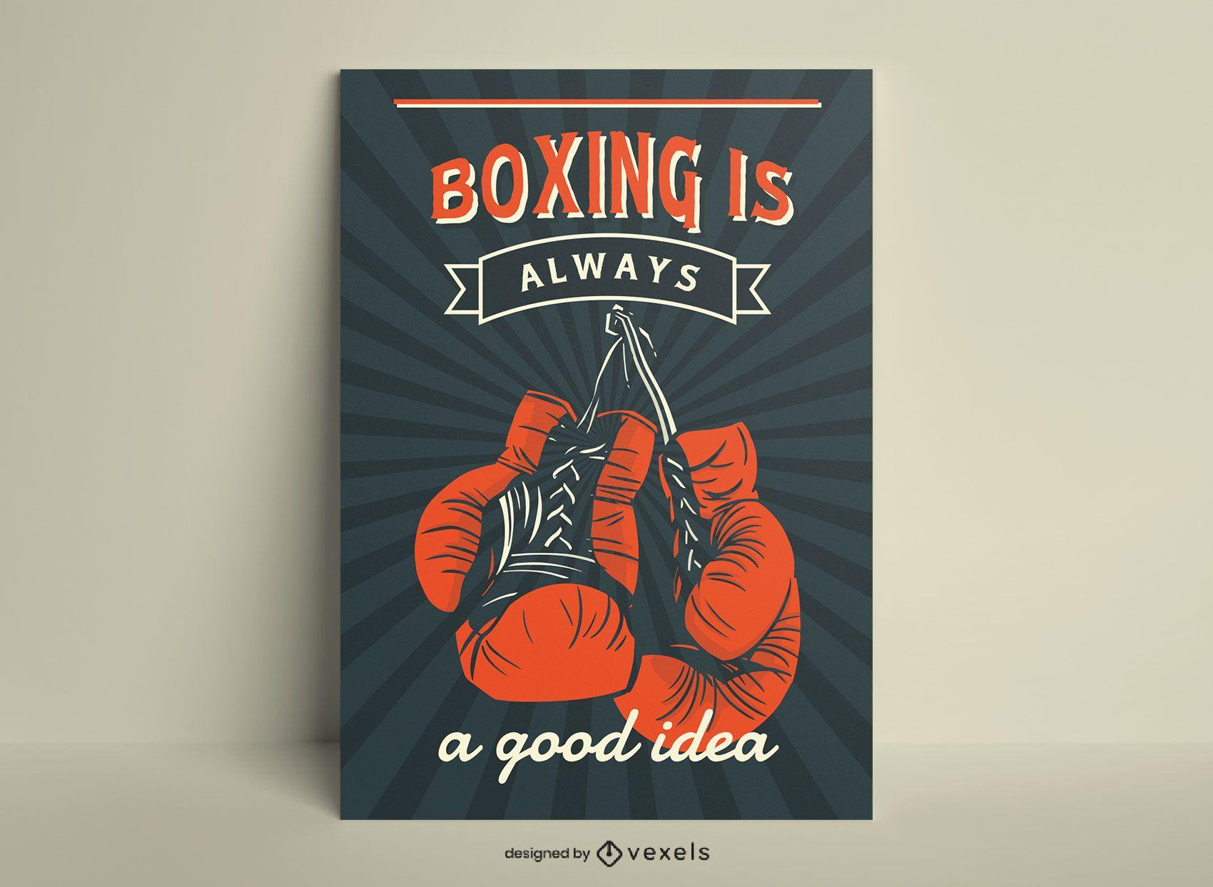 O boxe é sempre um pôster de boa ideia