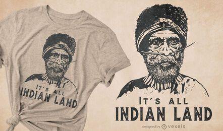 Sein ganz indisches Land-T-Shirt-Design