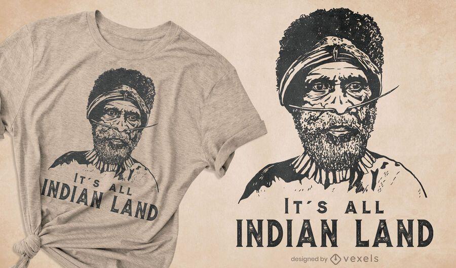 Its all Indian land t-shirt design