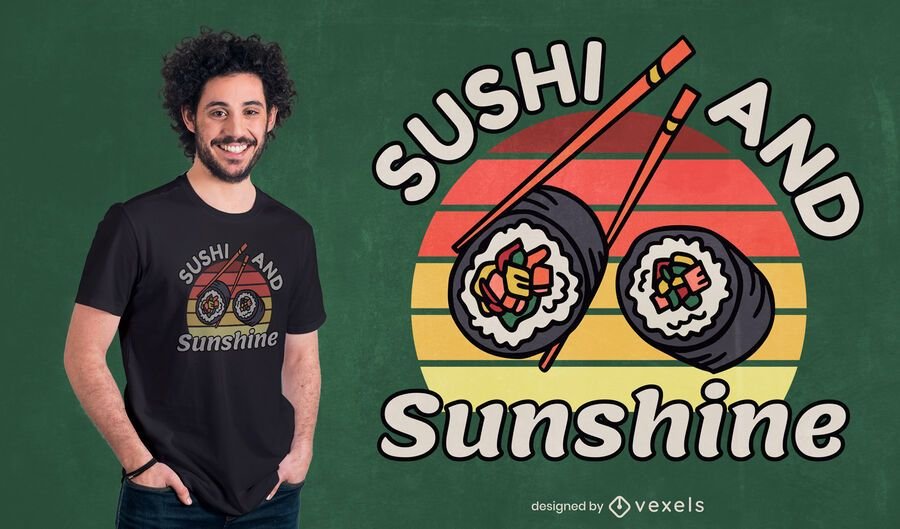 Sushi japanese food quote t-shirt design
