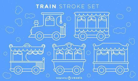 Side trains stroke set