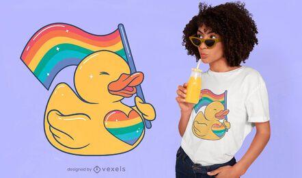 Lgbt rubber duck t-shirt design