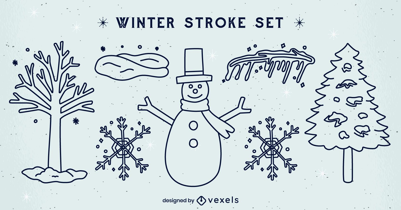 Conjunto de elementos de traço de inverno