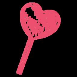 Heart shaped lollipop stroke