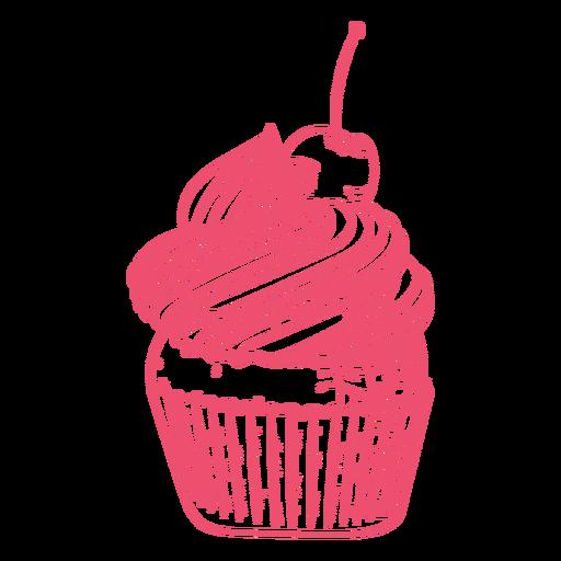 Pink cupcake filled stroke