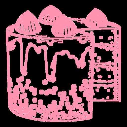 Pink cake filled stroke