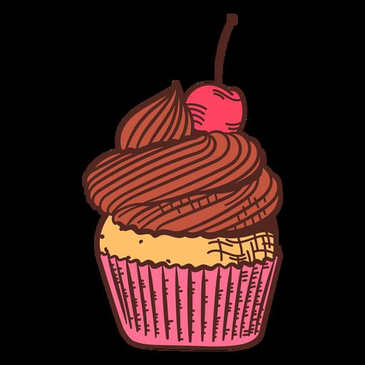 Cherry muffin color stroke