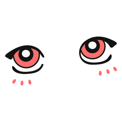 Anime pink eyes color stroke