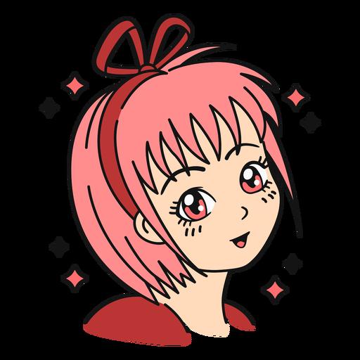 Anime girl color stroke