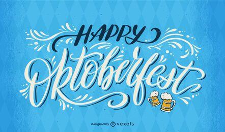 Letras de caligrafía feliz Oktoberfest