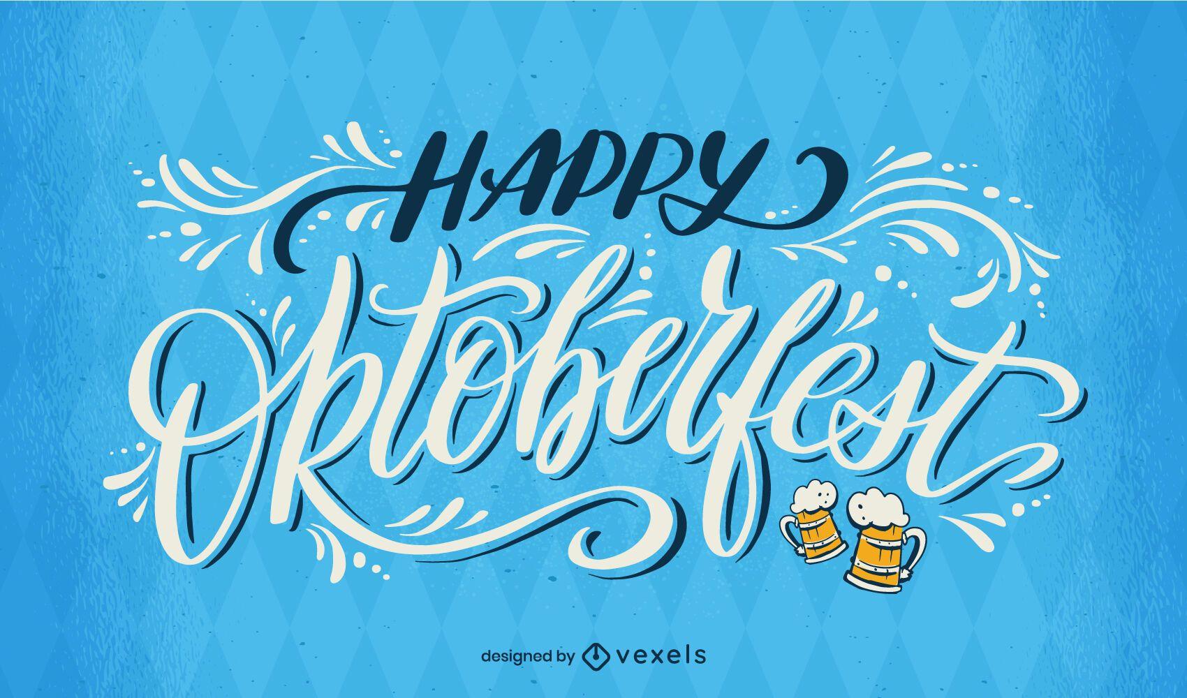 Happy Oktoberfest calligraphy lettering