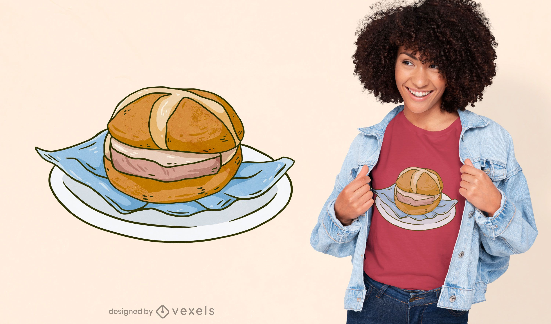 Diseño de camiseta alemana de sandwich bávaro.