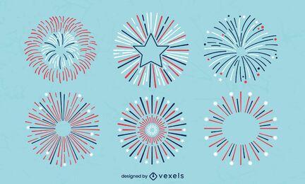 Satz von Schlag 4. Juli Feuerwerk