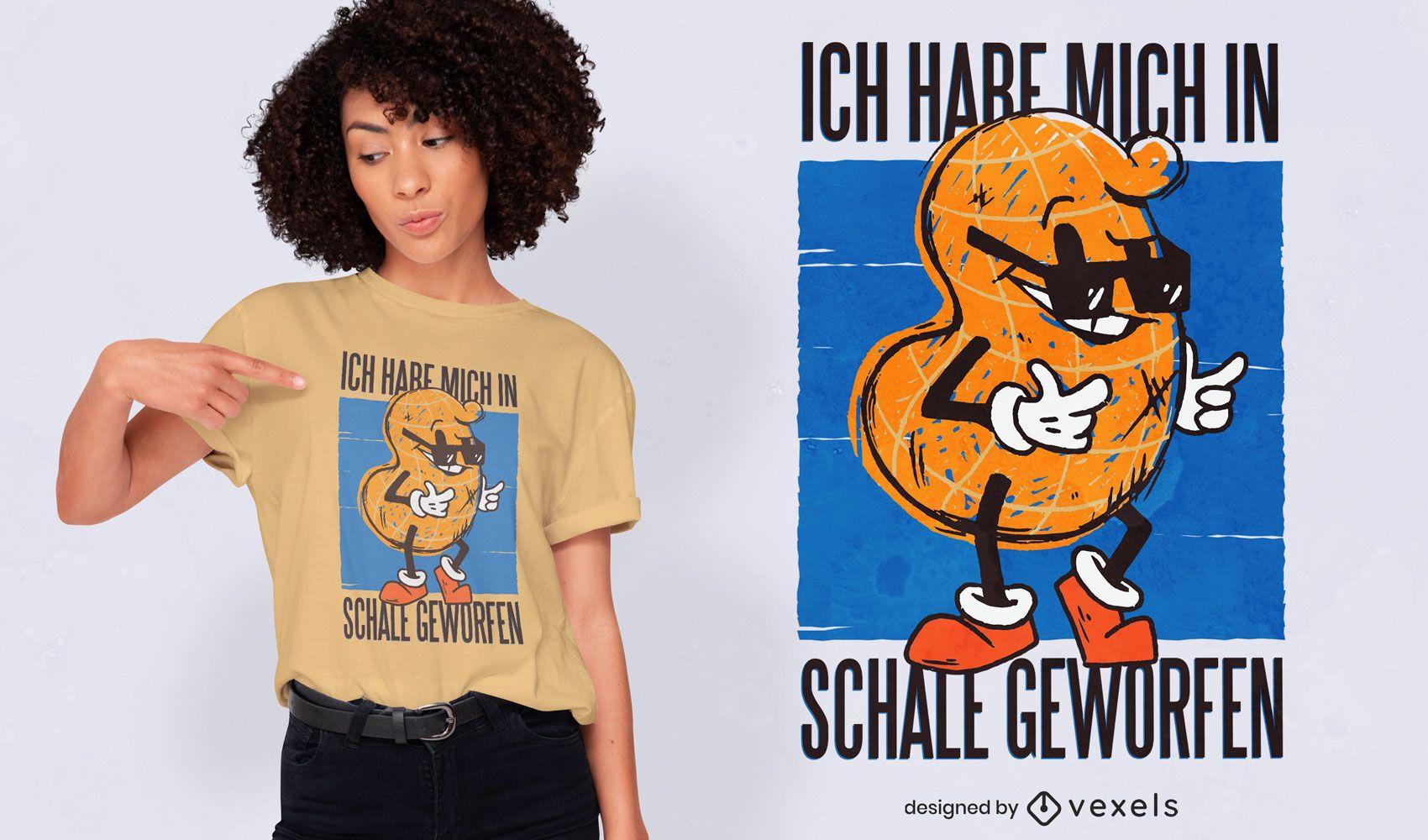 Funny peanut quote t-shirt design