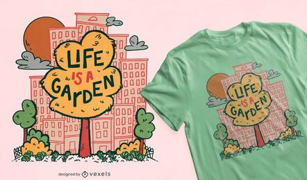 Diseño de camiseta City Tree Garden.