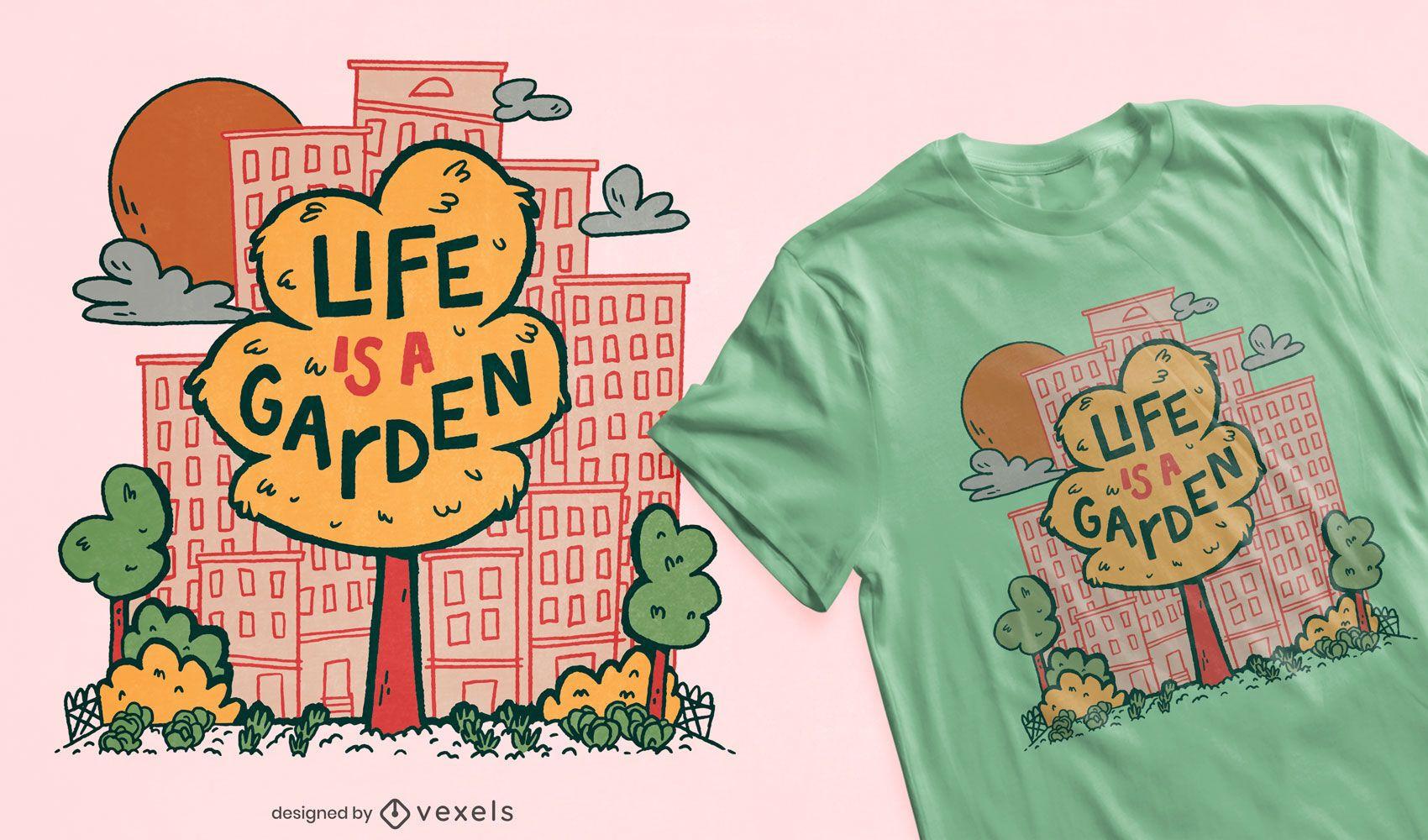City tree garden t-shirt design