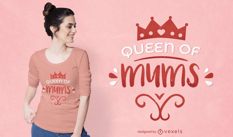 Design de camisetas da rainha das mães