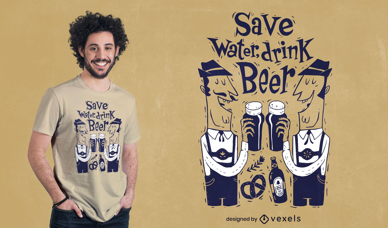 Drink beer characters t-shirt design