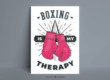 Boxing is my therapy poster