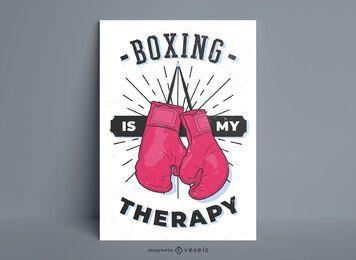 O boxe é meu pôster de terapia