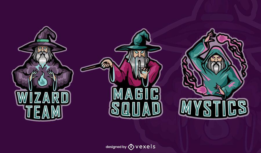 Wizards gaming badges set