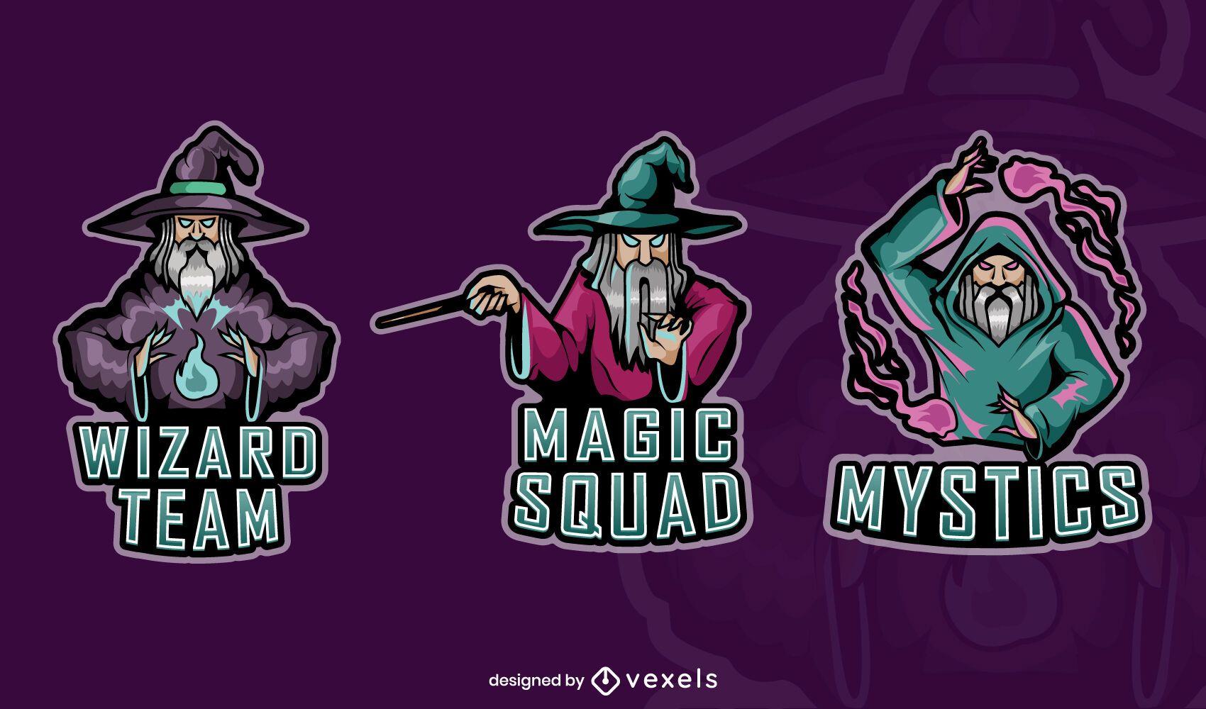 Conjunto de emblemas de jogos da Wizards