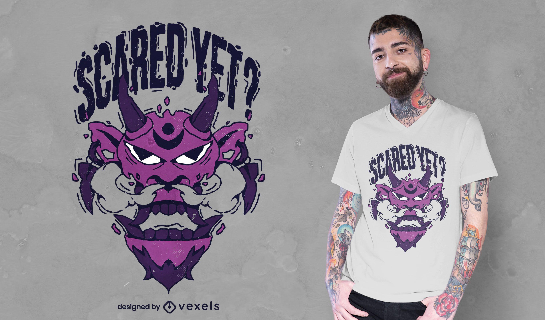 Design de t-shirt assustada com cara de monstro