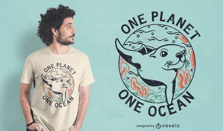 Seal ocean protection t-shirt design