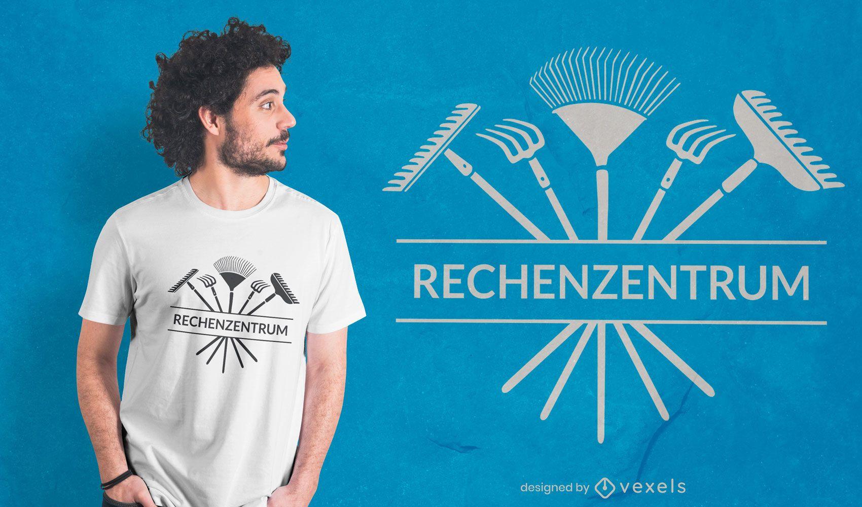 Diseño de camiseta de cita de silueta de rastrillo