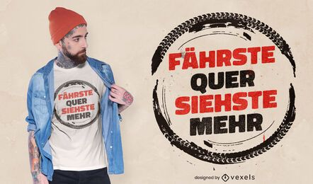 Design de camiseta com citações alemãs