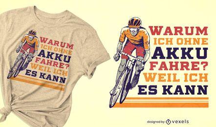 Fahrradfahrer-Illustrations-T-Shirt-Design