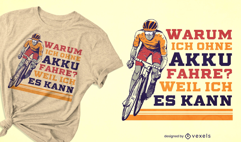Design de camiseta com ilustração de ciclista