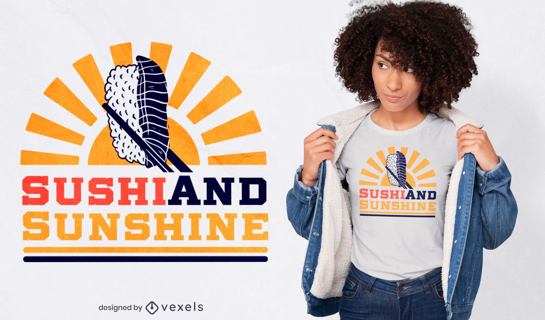 Design de t-shirt sushi sunshine