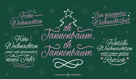 Christmas letterings in german