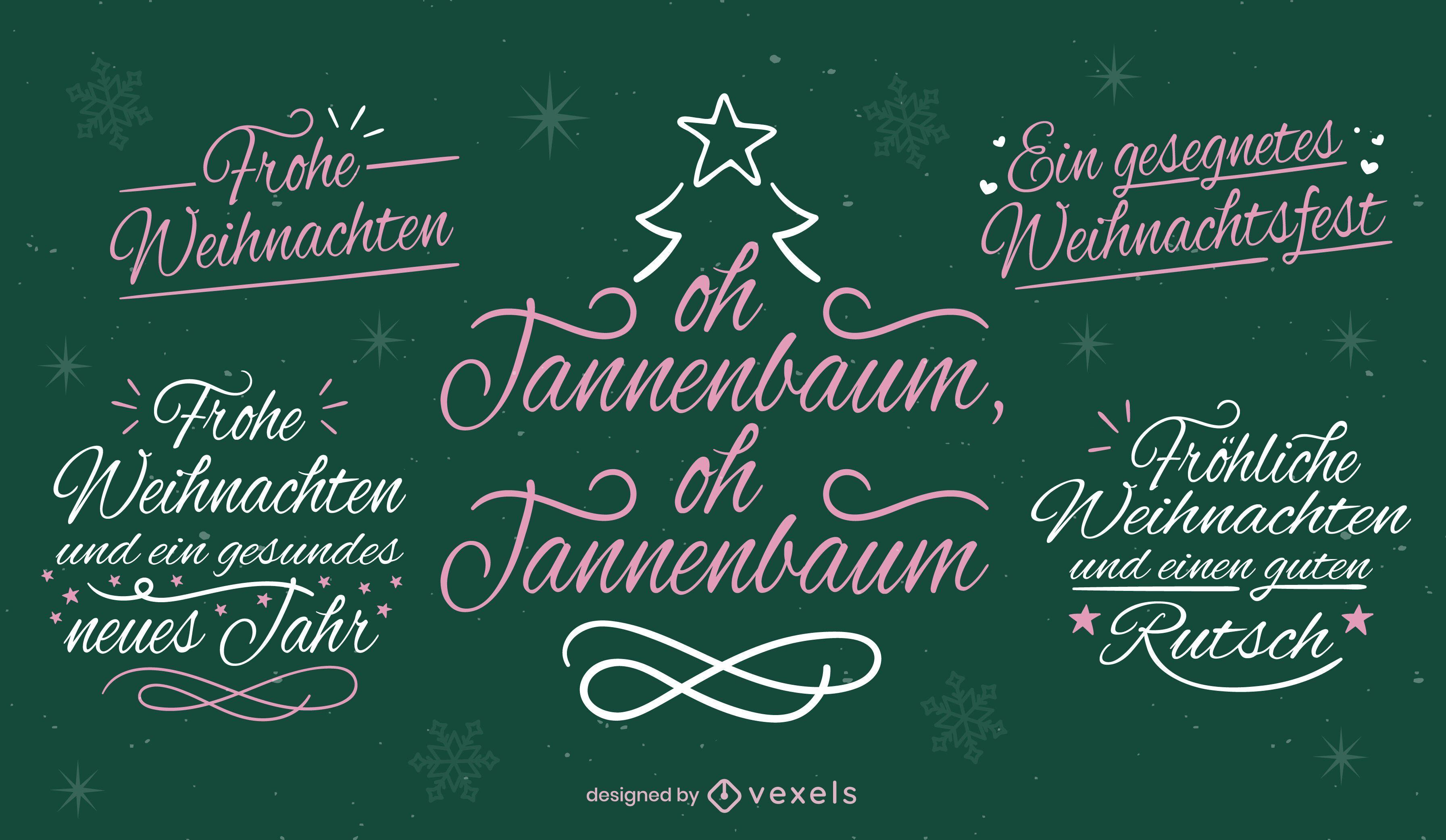 Rotulación navideña en alemán