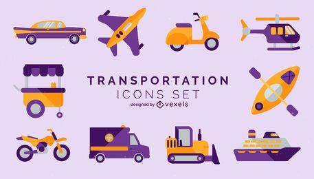 Set of transport elements semi flat