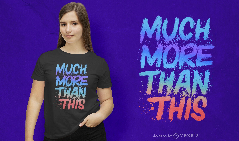 Much more than this psd t-shirt design
