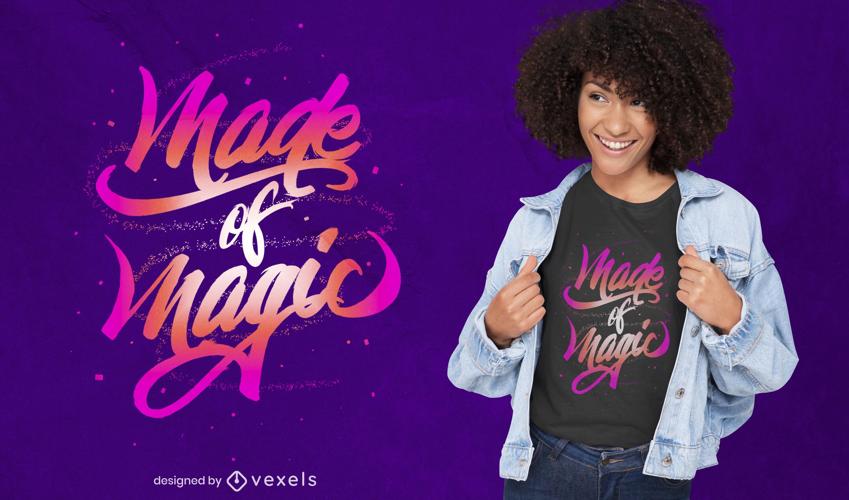 Hecho de letras mágicas diseño de camiseta psd