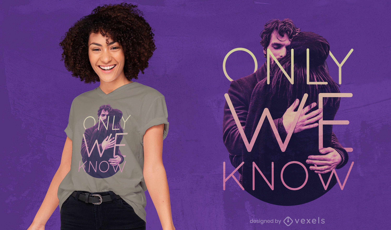 Abraço citação psd design de t-shirt