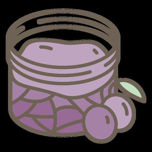 Fractal jar of blueberry jam color stroke