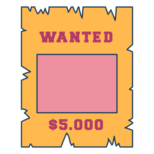 Wanted cowboys sign color stroke