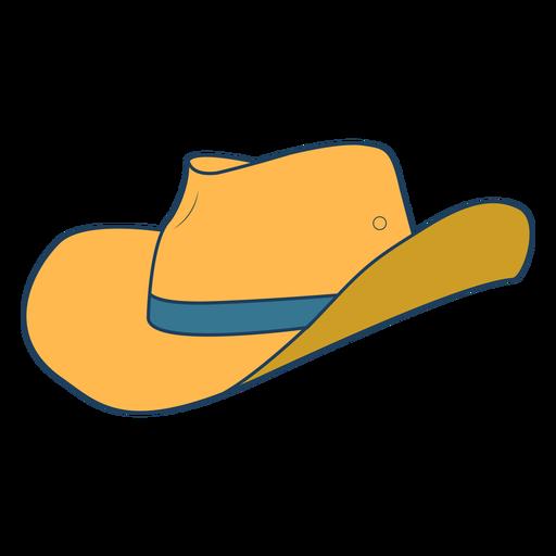 Cowboy hat color stroke