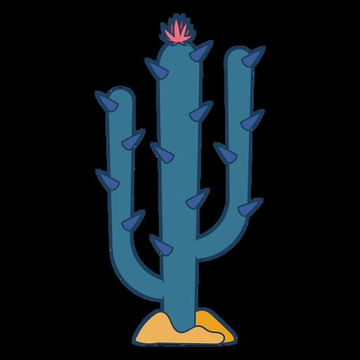 Wild west cactus color stroke
